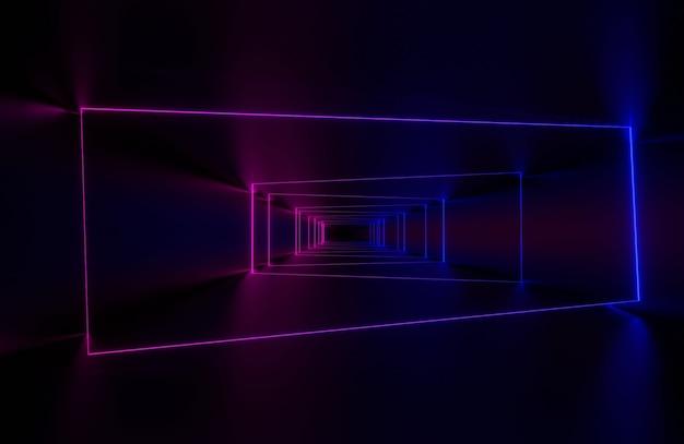 Abstrakter neonlichthintergrund Premium Fotos