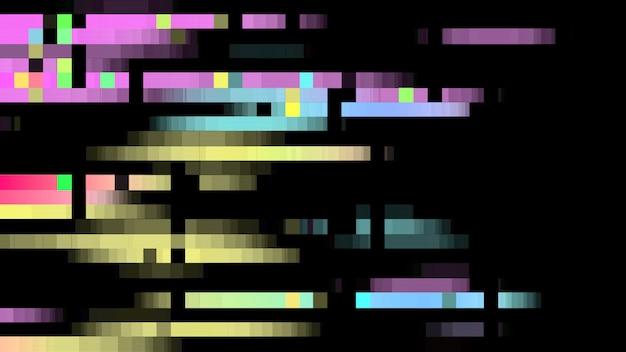 Abstrakter störschub-pixelhintergrund. Premium Fotos