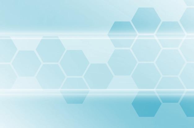 Abstrakter technologischer hintergrund, der aus einem satz hexagonen besteht Premium Fotos