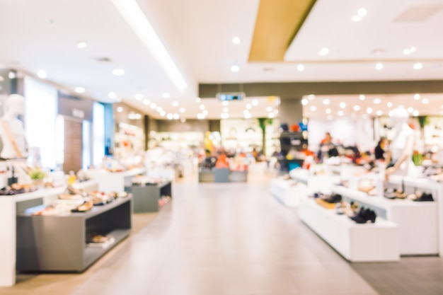 Abstrakter unschärfeeinkaufszentruminnenraum Kostenlose Fotos