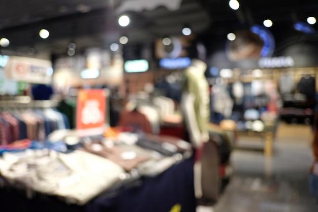 Abstrakter unschärfeinnenraum des einkaufszentrums des kaufhauses. Premium Fotos