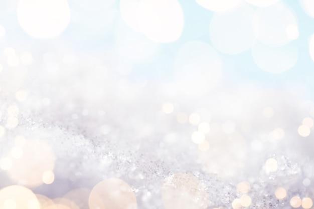 Abstrakter weißer hintergrund mit goldenen glanzlichtern, makroaufnahme Premium Fotos