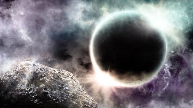 Abstrakter wissenschaftlicher hintergrund der universumsszene im weltraum Premium Fotos
