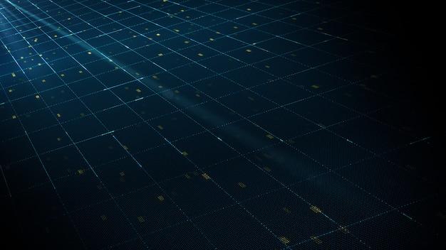 Abstraktes digitaltechnik-hintergrundkonzept. Premium Fotos