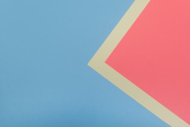 Abstraktes geometrisches design mit zwei farben. platz kopieren Premium Fotos