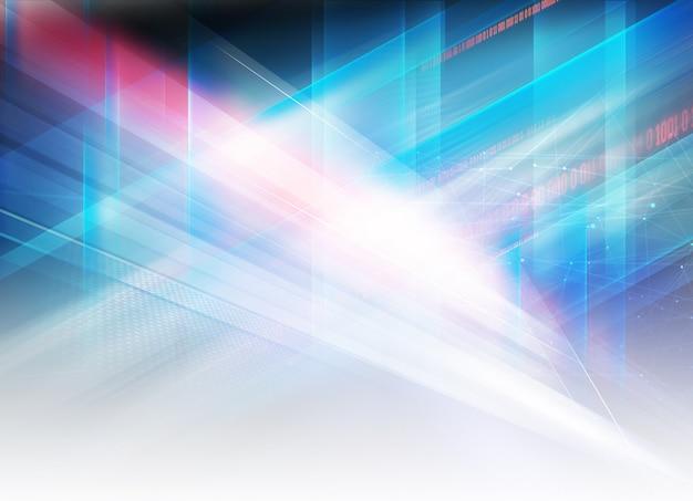 Abstraktes grafisches hightech- futuristisches design Premium Fotos
