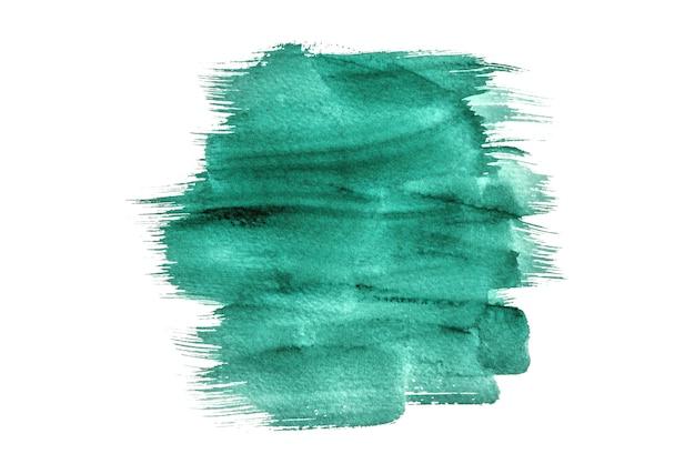 Abstraktes grünes aquarell lokalisiert auf einem weißen hintergrund, handfarbe auf dem papier. Premium Fotos