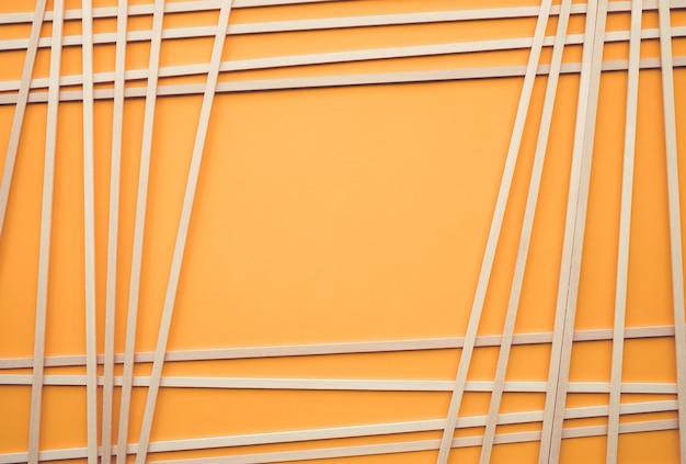 Abstraktes holzmuster auf gelbem hintergrundkreativitätskonzeptidee Premium Fotos