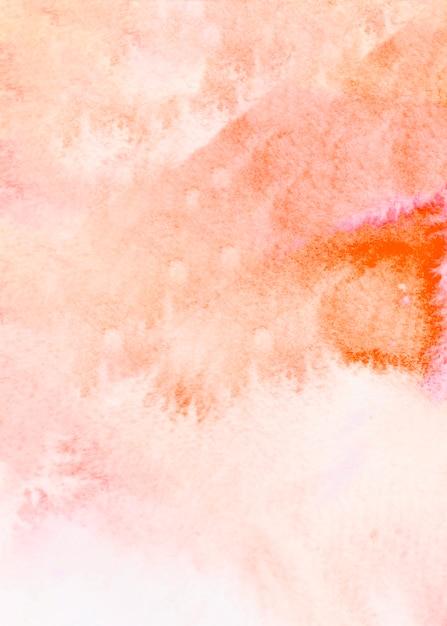 Abstraktes orange aquarell gebürsteter beschaffenheitshintergrund Kostenlose Fotos
