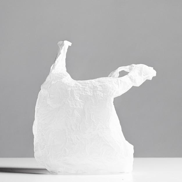 Abstraktes plastiktütenkonzept mit kopienraum Kostenlose Fotos
