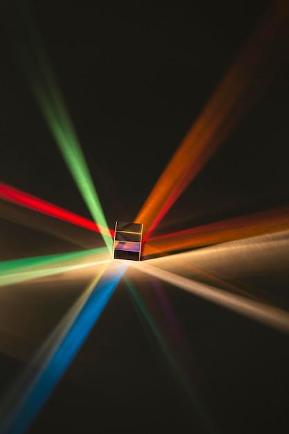 Abstraktes prisma und regenbogenlichter Kostenlose Fotos