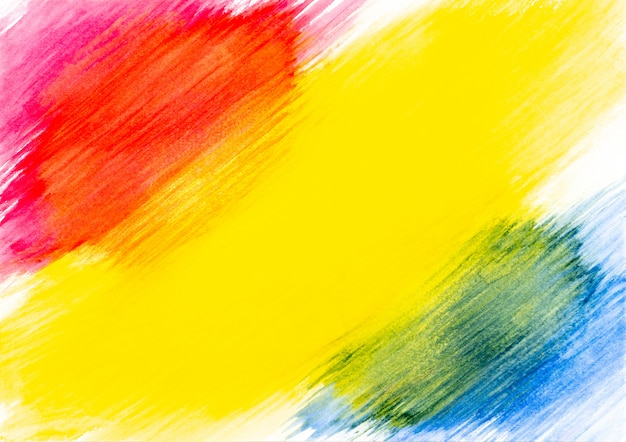 Abstraktes rotes gelbes und blaues aquarell gemalt auf weißbuchhintergrund. Premium Fotos
