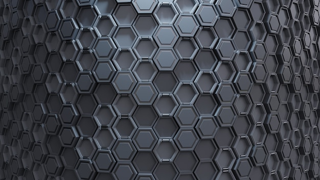 Abstraktes technologisches hexagonmuster. Premium Fotos