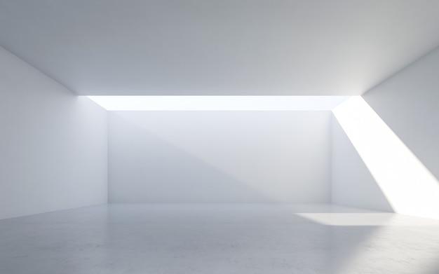 Abstraktes weißes interieur. leerer raum mit weißen wänden. Premium Fotos