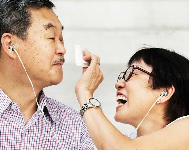 Ältere asiatische paare Kostenlose Fotos