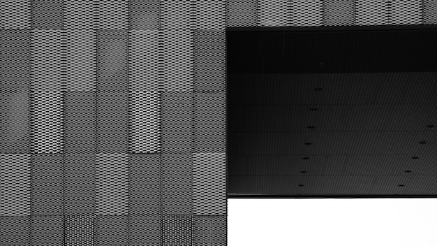 Äußeres des stahlgitters und der markise an der gebäudewand Premium Fotos