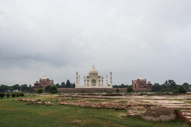 Agra-stadt taj mahal indien Premium Fotos