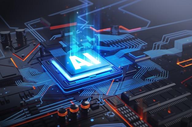 Ai-leiterplattentechnologiesystem Premium Fotos