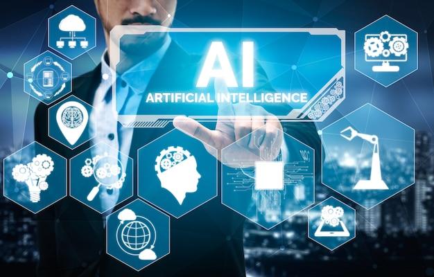Ai-lernen und künstliche intelligenz Premium Fotos