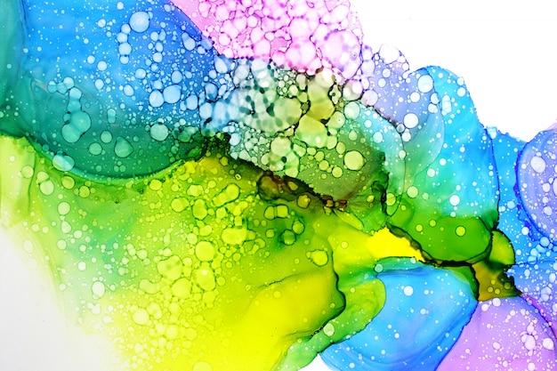 Alkoholtinte, die abstrakten hintergrund malt Premium Fotos