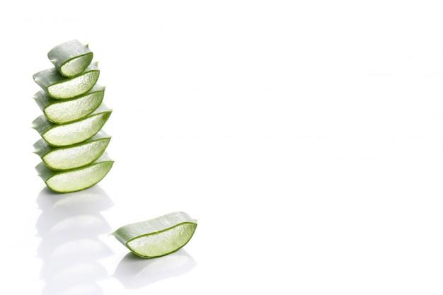 Aloe vera scheiben für die hautpflege Kostenlose Fotos
