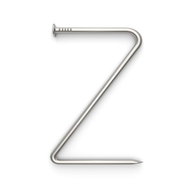 Alphabet aus nagel gemacht Premium Fotos