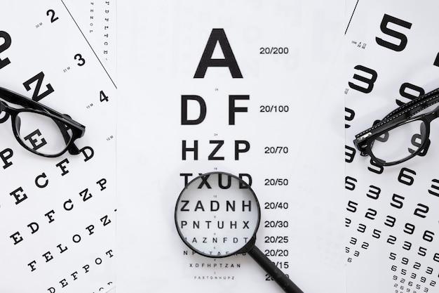 Alphabet- und zahlentabelle für optische beratung Kostenlose Fotos