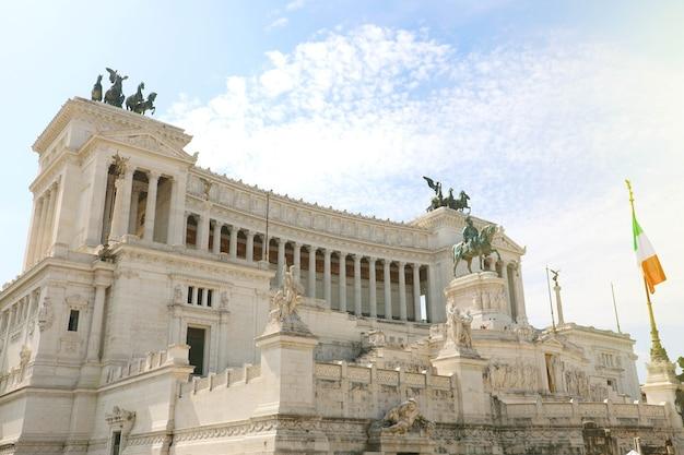 Altar des vaterlandes, rom, italien Premium Fotos