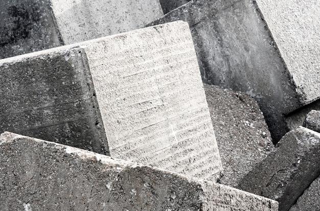 Alte betonblockwandhintergrundbeschaffenheit Premium Fotos
