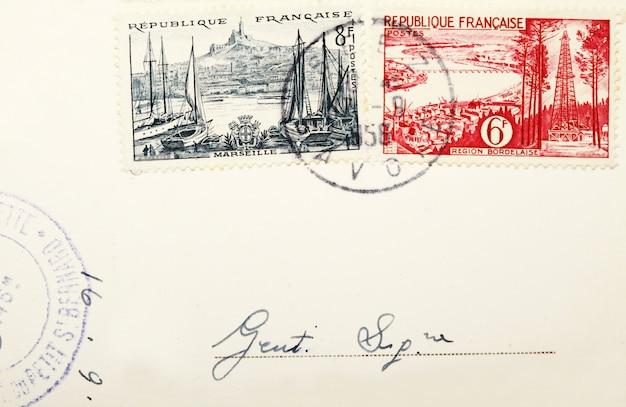 Alte briefmarken und briefmarken Premium Fotos