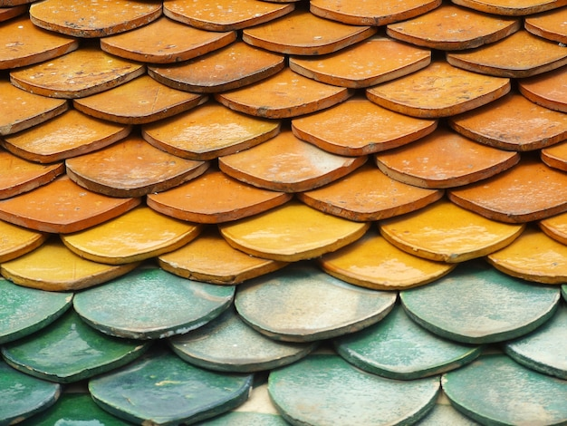 Alte dachziegel aus rotem backstein Premium Fotos