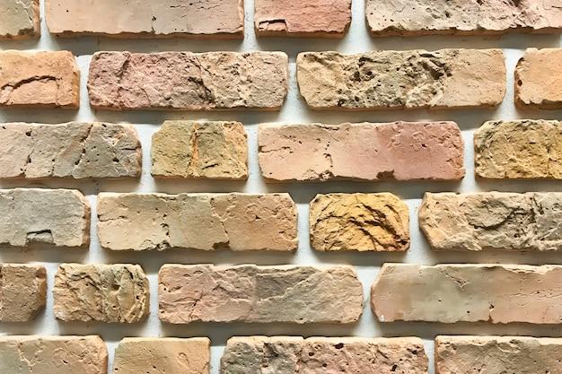 Alte dekorative wand des ziegelsteines, innenarchitekturbeschaffenheits-schmutzhintergrund Premium Fotos