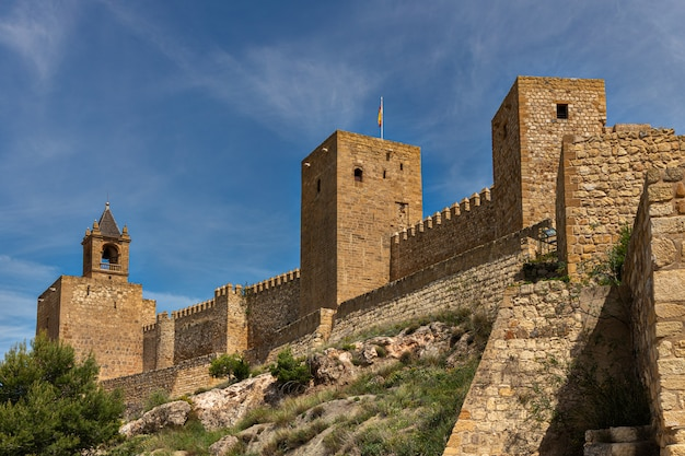 Alte mauern in der alcazaba de antequera. malaga. andalusien. spanien. Premium Fotos
