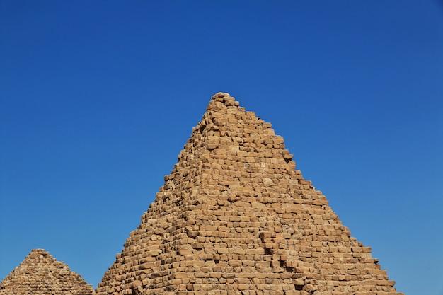 Alte pyramiden von nuri, sudan Premium Fotos