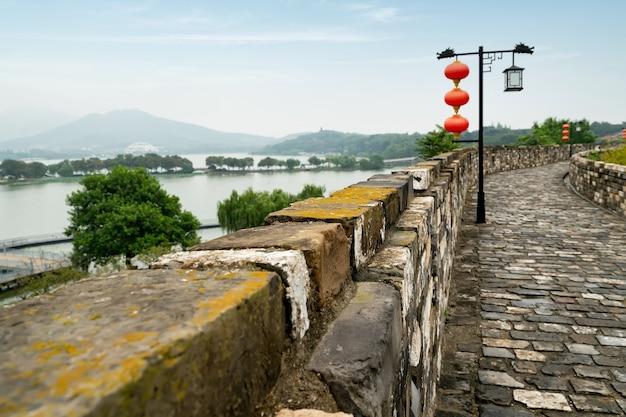 Alte stadtmauern in nanjing, china Premium Fotos