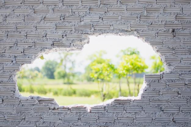 Alte weiße backsteinmauer benutzt als hintergrund Premium Fotos