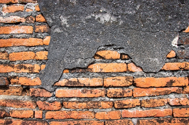 Alter alter backsteinmauerhintergrund und -beschaffenheit für designdekoration innen und äußeres. Premium Fotos