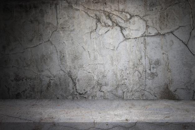 Alter gray cement wall- und bodenhintergrund Premium Fotos