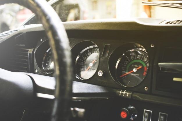 Altes auto armaturenbrett Kostenlose Fotos