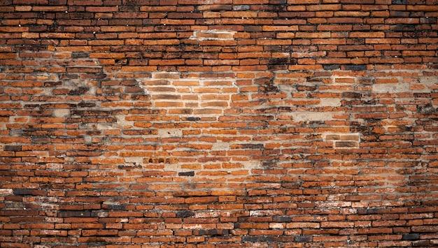 Altes backsteinmaueroberflächendetail des tempels thailändisch in thailand Premium Fotos
