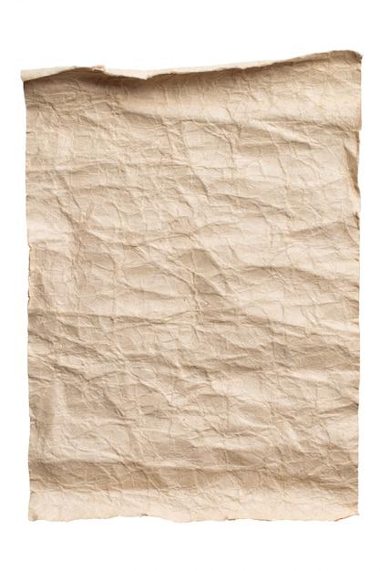 Altes braunes papier lokalisierter hintergrund Premium Fotos