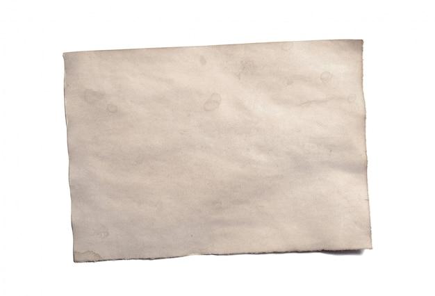 Altes leeres stück zerbröckelndes papiermanuskript oder pergament der antiken weinlese Premium Fotos