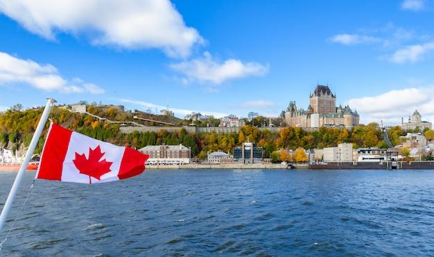 Altes quebec city in der herbstsaison, quebec, kanada Premium Fotos