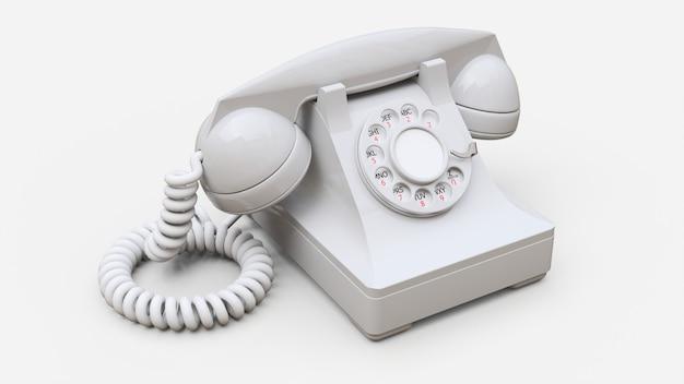 Altes weißes telefon Premium Fotos