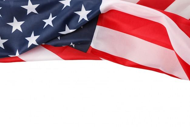 Amerikanische flagge als rahmen isoliert Premium Fotos