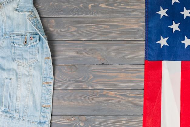 Amerikanische flagge und jeansjacke Kostenlose Fotos