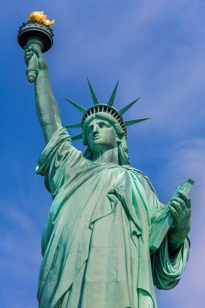 Amerikanisches symbol usa freiheitsstatue new york Premium Fotos
