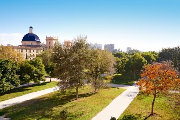Ansicht von valencia san pio v vom turia-park Premium Fotos