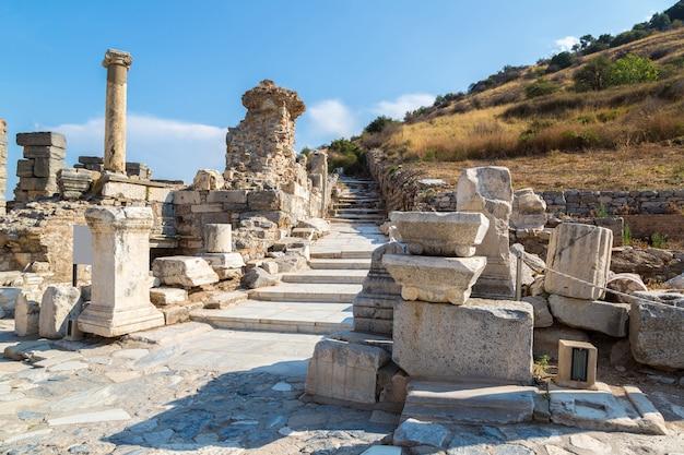 Antike stadt ephesus, türkei Premium Fotos