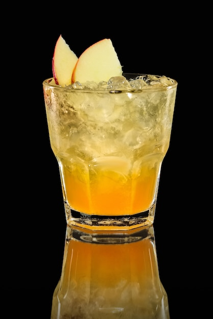 Apfel-orangen-eis trinken Premium Fotos